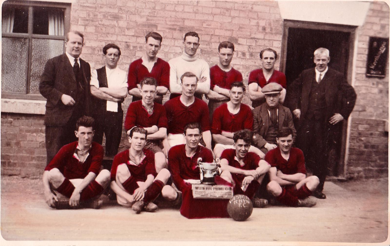 Weston Rhyn Football Club - Circa 1930